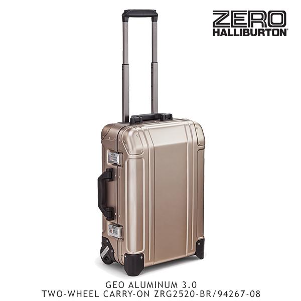 【送料無料】ゼロハリバートン(ZERO HALLIBURTON) ジオ アルミニウム 3.0 TWO-WHEEL CARRY-ON ZRG2520-BR/94267-08 /キャリーケース/スーツケース/ハードラゲージ【18】[GG]