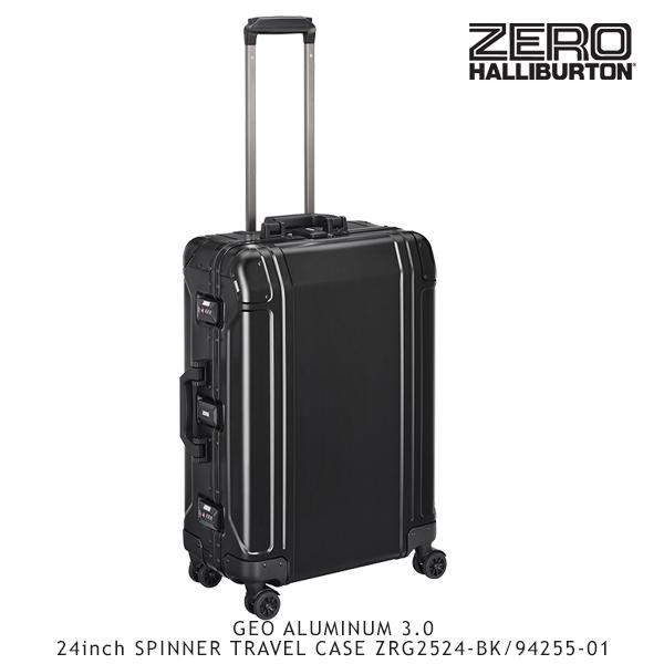 【送料無料】ゼロハリバートン(ZERO HALLIBURTON) ジオ アルミニウム 3.0 24inch SPINNER TRAVEL CASE ZRG2524-BK/94255-01 /キャリーケース/スーツケース/ハードラゲージ【25】[GG]
