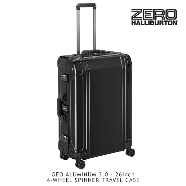 ゼロハリバートン(ZERO HALLIBURTON) ジオ アルミニウム 3.0(26inch 4-WHEELED SPINNER TRAVEL CASE)スーツケース/ビジネス ケース【22】 送料無料
