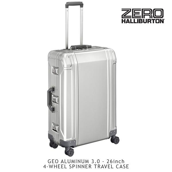 【送料無料】ゼロハリバートン(ZERO HALLIBURTON) ジオ アルミニウム 3.0(26inch 4-WHEELED SPINNER TRAVEL CASE)スーツケース/ビジネス ケース【18】【楽ギフ_包装選択】
