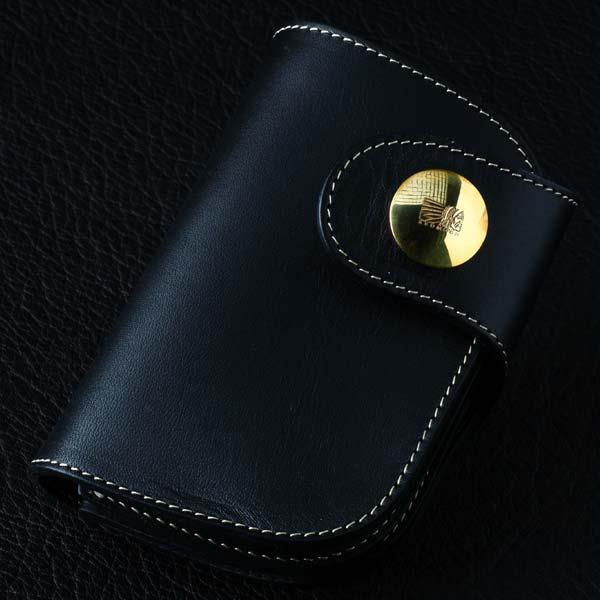【送料無料】 レッドムーン REDMOON ショートウォレット 2つ折り財布0-HR-01NC 「オイルレザー」 バイカーズ サドルレザー 本革 ハンドメイド 経年変化
