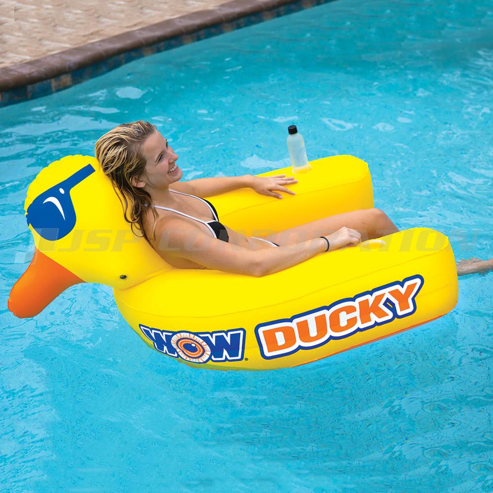 ダッキーラウンジ 1人乗り WOW/ワオ 浮き輪 フローター フロート 海 プール 海水浴 うきわ リゾート 大人