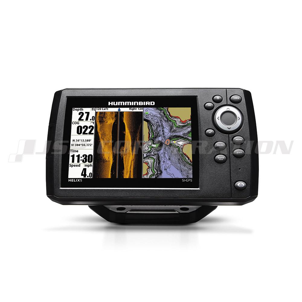 HUMMINBIRD5インチGPS魚探HELIX5 CHIRPサイドイメージ G2モデル GPSマップなし