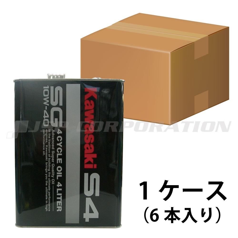 KAWASAKI4サイクルジェットオイル S4SG10W-40 1ケース 《4L×6本》
