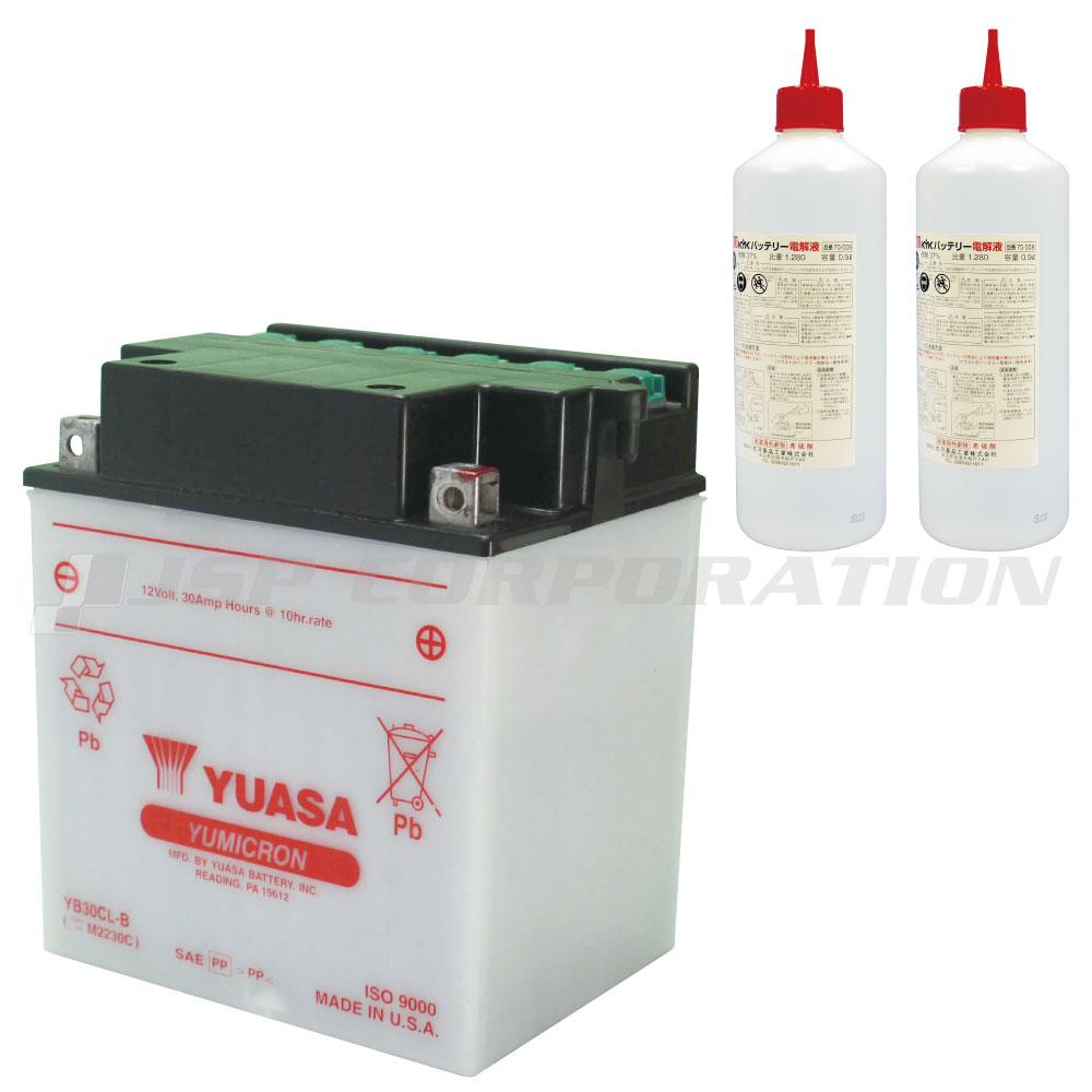 YUASA ユアサ バッテリー YB30CL-B 電解液付き