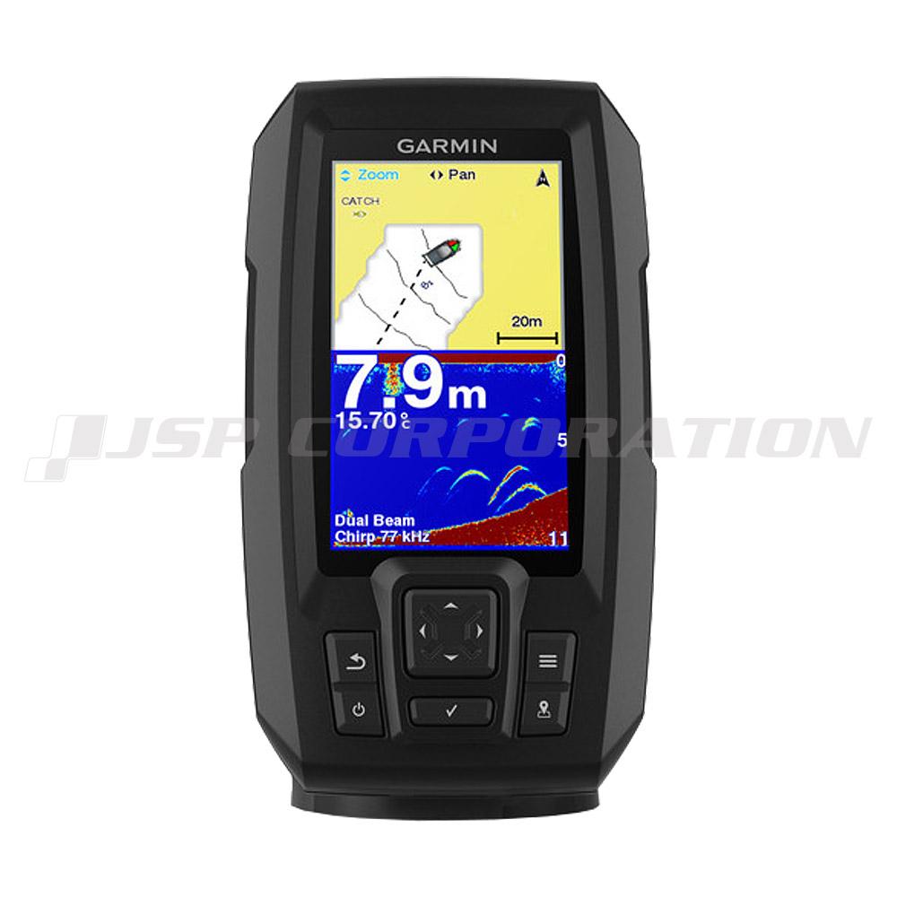 GARMIN(ガーミン)4.3型GPS連動CHIRP魚探STRIKER Plus 4 2周波振動子セット