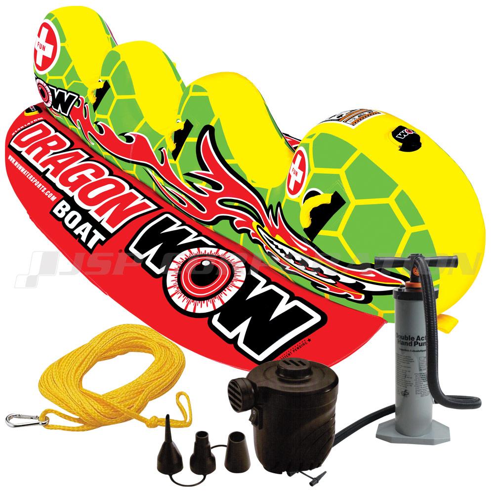 2019新作モデル トーイングチューブ バナナボート WOW/ワオ WOW/ワオ 3人乗り ドラゴンボート 4点セット 4点セット バナナボート, BUFFALO BOBS 公式通販:3a98e3f3 --- canoncity.azurewebsites.net