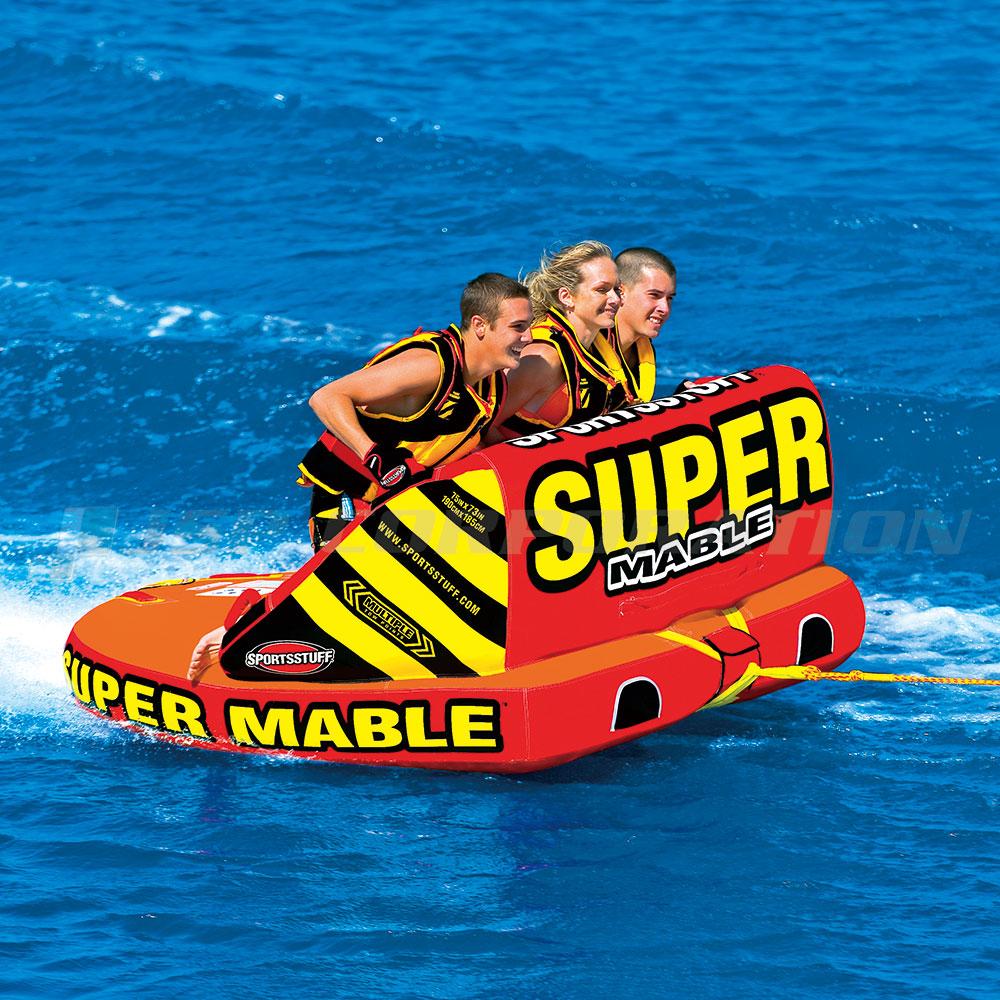 トーイングチューブ スーパーマーブル 3人乗り バナナボート SPORTS STUFF/スポーツスタッフ