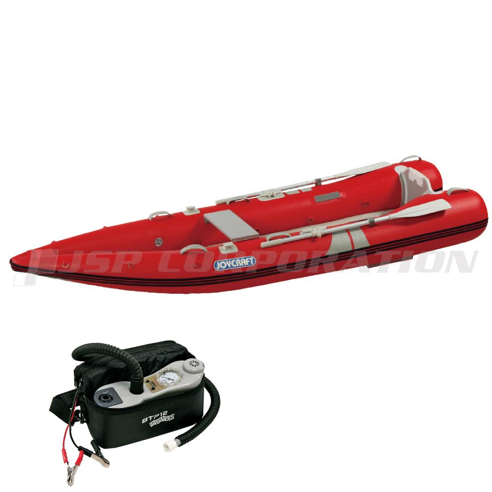 カヤック340 KYK-340 2019HSセット オール・腰掛板付き 予備検査なし 2人乗り ゴムボート ジョイクラフト 釣り