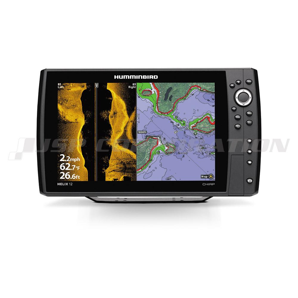HUMMINBIRD12.1インチGPS魚探HELIX12 MEGA CHIRPサイドイメージ G2Nモデル 自然湖・ダム湖マップセット
