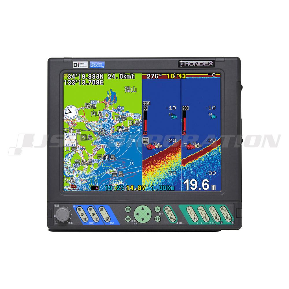 HE-10S 10.4型 カラー液晶 プロッター アンテナ内蔵 600W 50/200KHz 2周波
