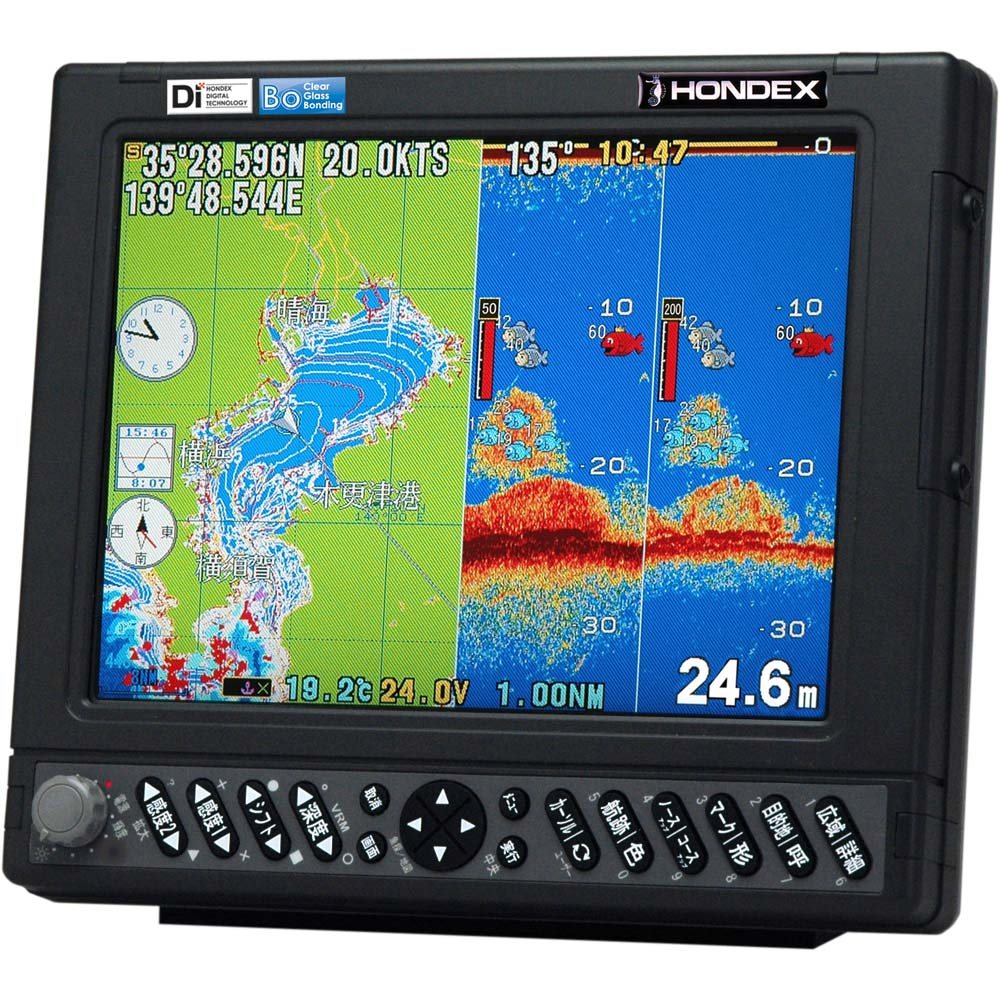 HONDEX(ホンデックス)HE-731S 10.4型カラー液晶GPSプロッター魚探アンテナ内蔵仕様 600W 50/200kHz