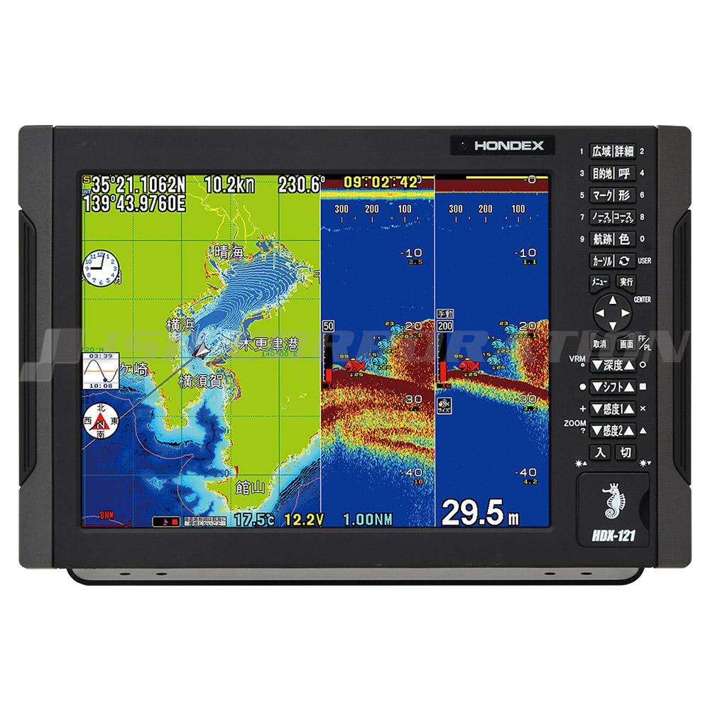 12.1型液晶 HDX-121 GPSアンテナ内蔵 2kW 50(2kW)&200(1kW)kHz 2周波
