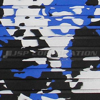 HYDRO-TURFトラクションマット(テープ付き)カットグルーブ Blue Camo 101×157cm