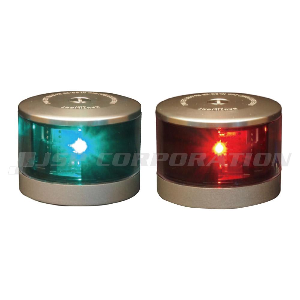 航海灯 LED 第二種 右舷灯(緑) & 左舷灯(赤) 2個セット 伊吹工業 小型船舶検査対応