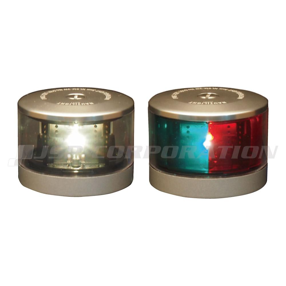 航海灯 LED 第二種 白灯 & 両色灯 2個セット 伊吹工業 小型船舶検査対応