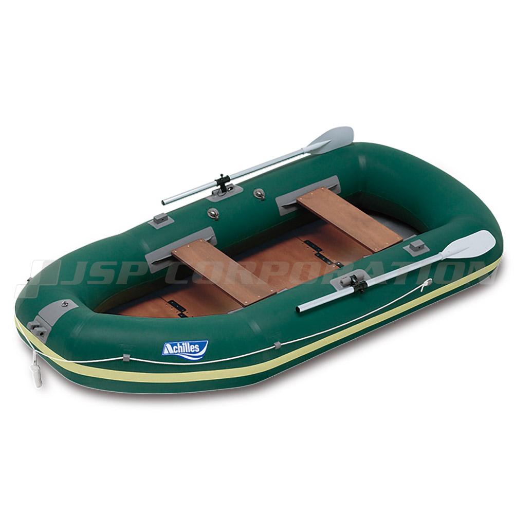 ECU4-942 ウッドフロア ネイビーブルー 4人乗り ゴムボート アキレス 手漕ぎ ローボート