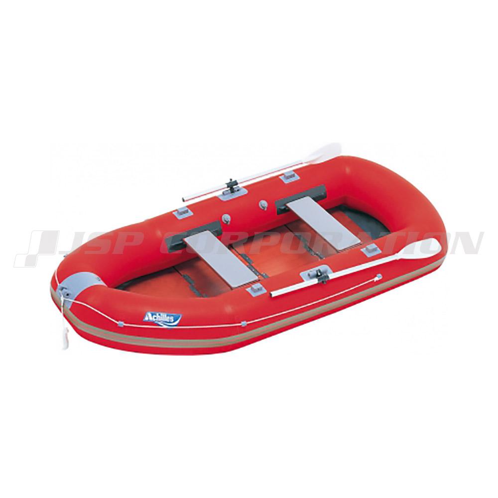 EZ4-942 ウッドフロア レッド 4人乗り ゴムボート アキレス 手漕ぎ ローボート