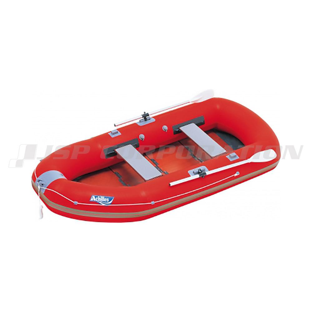 EZ6-942 ウッドフロア レッド 6人乗り ゴムボート アキレス 手漕ぎ ローボート