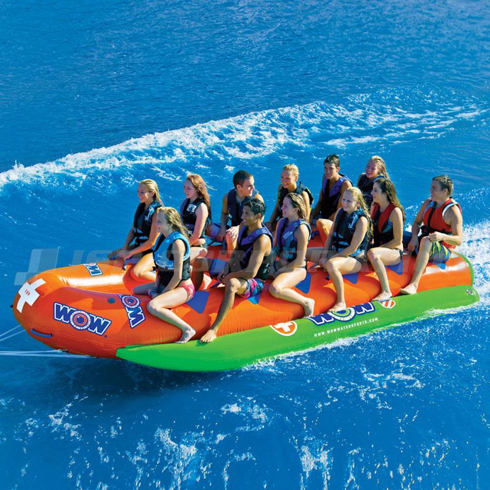 【送料無料】バナナボート クローズド バウ ウォータースレッド 業務用 12人乗 高耐久 トーイングチューブ