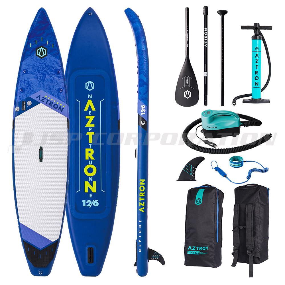 AZTRON(アストロン)NEPTUNE ネプチューンSUP(スタンドアップパドルボード) インフレータブル 電動ポンプ付 12'6