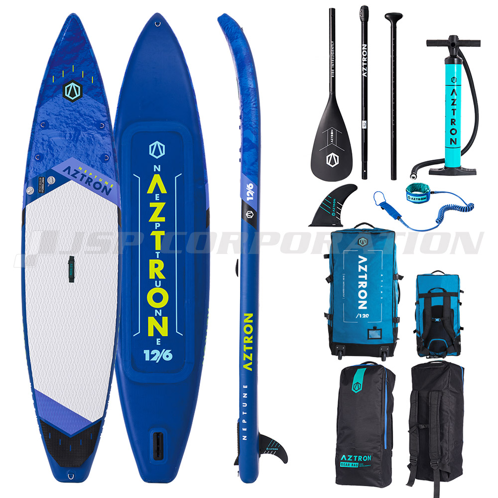 AZTRON(アストロン)NEPTUNE ネプチューンSUP(スタンドアップパドルボード) インフレータブル ローラーバッグ付 12'6