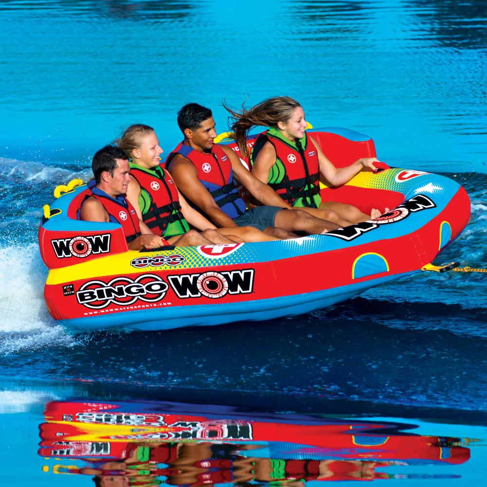 トーイングチューブ WOW/ワオ 4人乗り ビンゴ 4 バナナボート