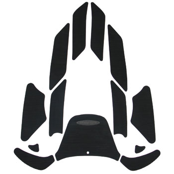 HYDRO-TURFデッキマットキット(テープ付き)SUV Cut Groove, Black 13PCS