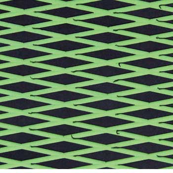 HYDRO-TURFツートン汎用トラクションマット(テープ付き)カットダイヤ BLACK/LIME GREEN