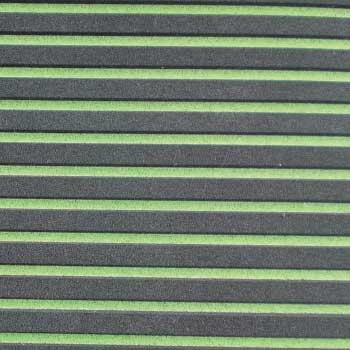 HYDRO-TURFツートン汎用トラクションマット(テープ付き)カットグルーヴ BLACK/LIME GREEN