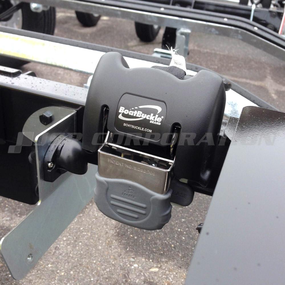BOAT BUCKLE トランサムタイダウンシステム スチール 2個セット 耐荷重:5000LBS(2267kg)