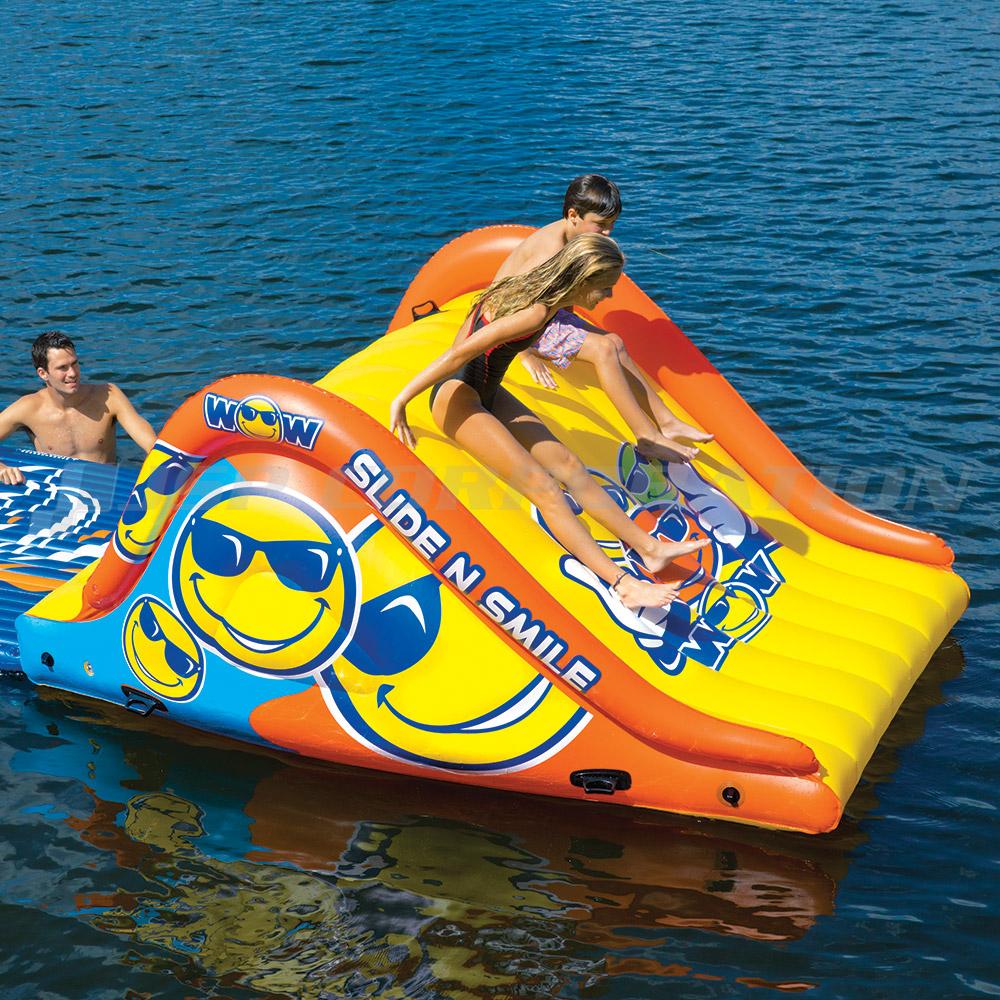 スライド&スマイル インフレータブルスライダー WOW(ワオ) プール 水上遊具 滑り台 ウォーターパーク スライダー 空気注入式