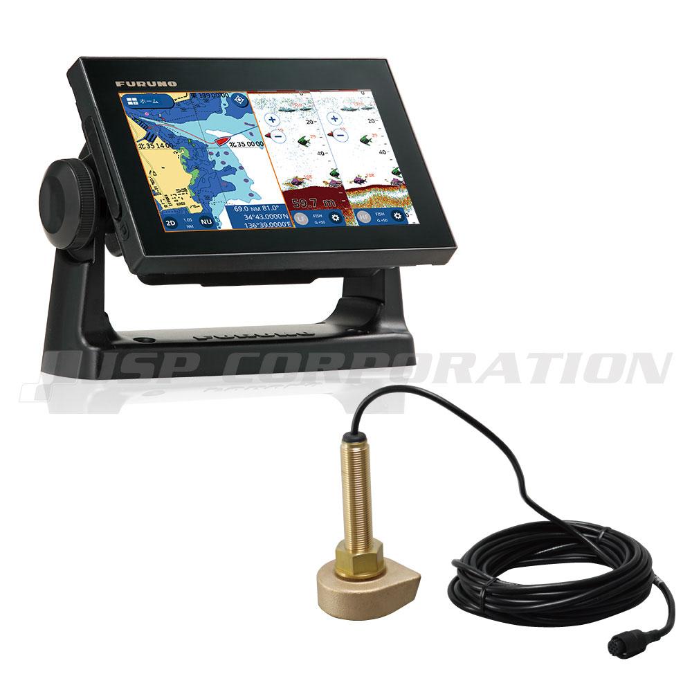 FURUNO(フルノ)7型ワイド カラー液晶GPSプロッタ魚探GP-1871F 舟型送受波器(520-5MSD)セット 50/200kHz・600W