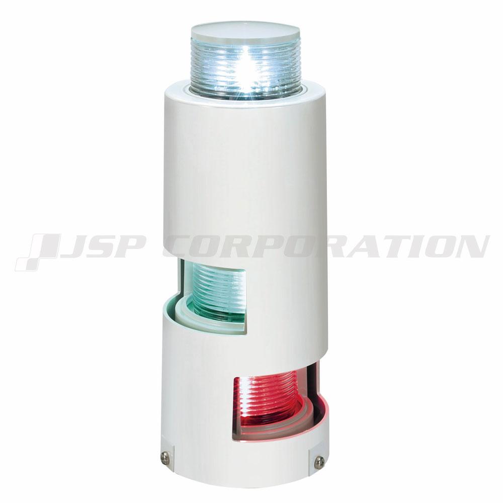 LED航海灯 第二種三色灯及び第二種白灯 マストコンビネーションライト 小糸製作所 小型船舶検査対応