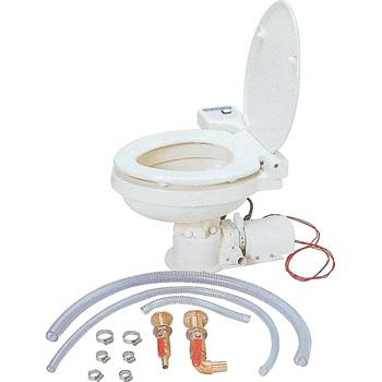オートマチック電動マリントイレ吸水口16mm、排水口25mm