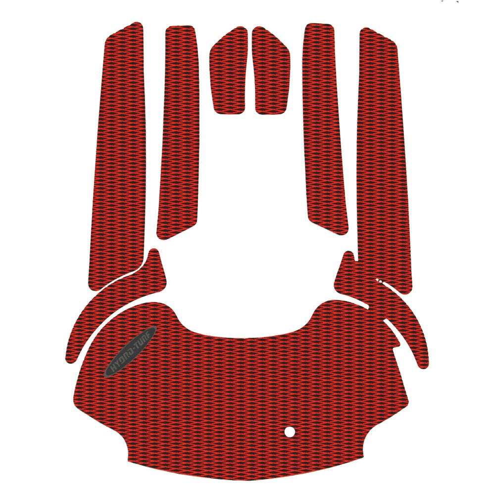 並行輸入品 HYDRO-TURFツートンデッキマットキット 当店限定販売 テープ付き FX SHO 08-11 FZR 09-16 FZS 14-16 10-11 SVHO 09-13 FXHO RED DYAMOND BLACK