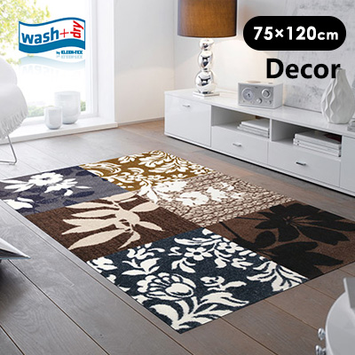 玄関マット wash+dry(ウォッシュアンドドライ) 屋外 室内 北欧 neore / Mystic Leaves 75×120cm