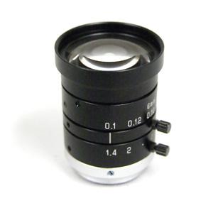 メガピクセル対応CCTVレンズ 6mm F1.4