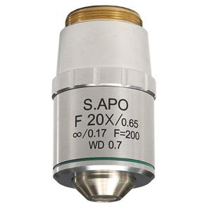 【日本製】蛍光観察用 セミ・アポクロマート対物レンズ 20倍