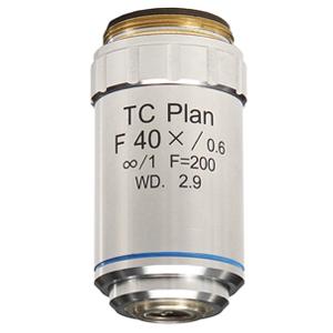 【日本製】倒立顕微鏡・蛍光観察用 TC Plan対物レンズ 40倍