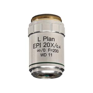 【日本製】金属顕微鏡・反射照明用 Epi プランアクロマート対物レンズ 20倍 長作動距離