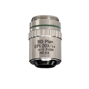 【日本製】金属顕微鏡・反射照明・暗視野Epi プランアクロマート対物レンズ 20倍