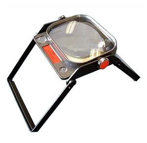 PEAK 【ピーク・フォールディング・ルーぺ】 多目的な卓上ルーぺ!使用時には脚を開き安定した観察ができます