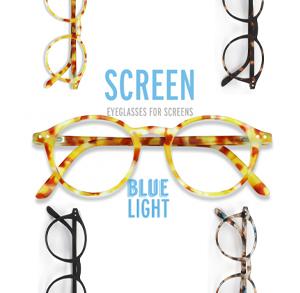 【 SCREEN #D YELLOW TORTOISE SOFT 】 フランス パリ発、おしゃれなデザインのPC用眼鏡。ブルーライトを40%以上カット
