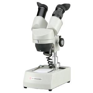 SHIMADZU 実体顕微鏡 VCT-VBL2e (114-788) 格納箱つき/LED照明 鏡筒360°回転式