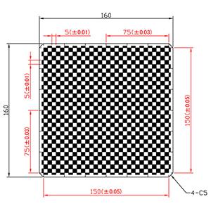 【 渋谷光学 ガラスキャリブレーションプレート (No.CBC01-150RM) 】反射型、つや消し、外形160 x 160