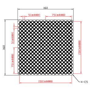 【 渋谷光学 ガラスキャリブレーションプレート (No.CBC01-150T) 】透過型、外形160 x 160