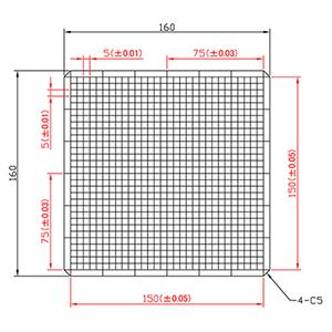【 渋谷光学 ガラスキャリブレーションプレート (No.CBG01-150RM) 】反射型、つや消し, 外形160x160mm