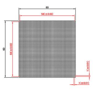 【 渋谷光学 (No.CBG05-58RM) ガラスキャリブレーションプレート 渋谷光学 (No.CBG05-58RM)】反射型 x、つや消し、光沢 外形60 x 60, 千種区:f846462a --- jpworks.be