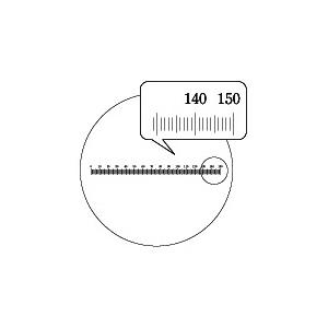 【 渋谷光学 接眼ミクロメーター (No.R1050-28.5) 】水平目盛 外径28.5mm